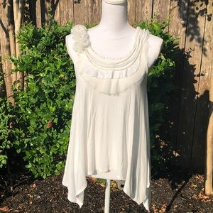 Ya Los Angeles White Tank Top Size Small    D17